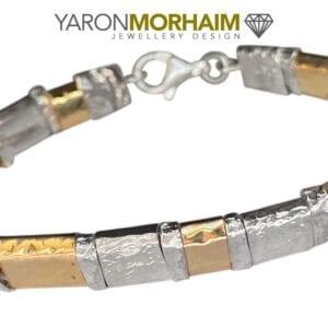 Silver Gold Bracelet