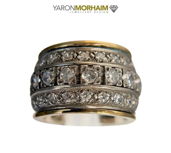 Sumptuous Silver Gold Spinning Ring