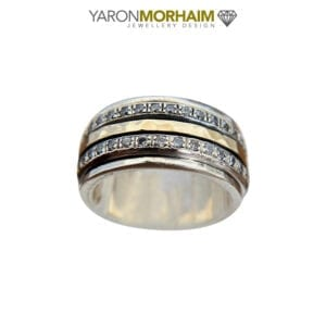 Triple Band Silver Gold Ring