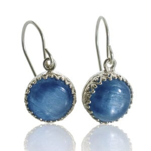 Kyanite Gemstones Sterling Silver Earrings