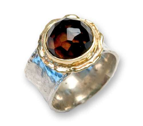 Chunky Smoky Quartz Ring