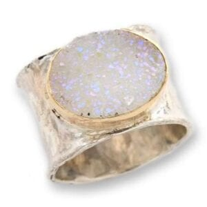 Druzy Iridescent Gemstone Ring