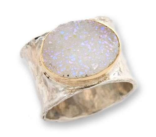 Druzy Iridescent Gemstone Ring