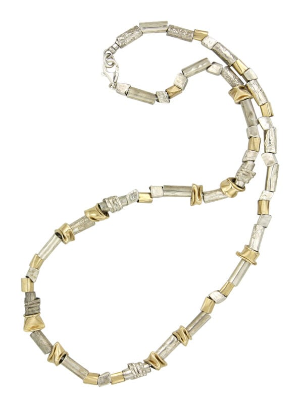 Silver Gold Collar Style Necklace