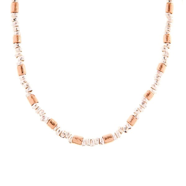 Luxuriant Silver Gold Necklace