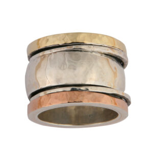 Chunky Hammered Spinning Ring