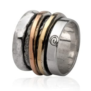 Trendy Silver Gold Ring