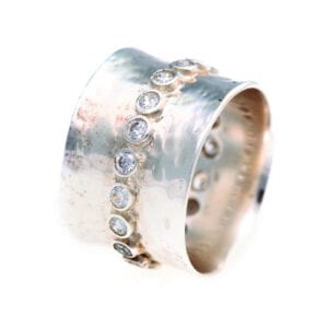 Silver Ring With Round Cubic Zirconia