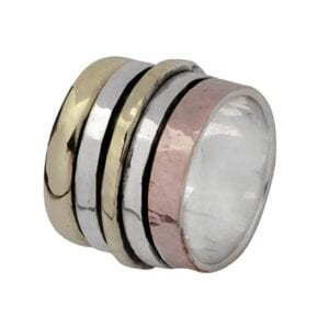Two Tone Gold Silver Spinning Ring