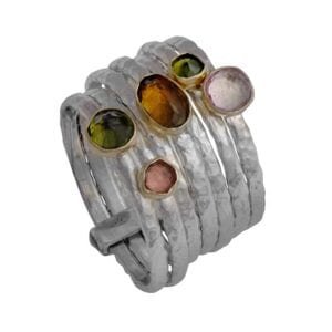 Multi Band Gemstone Ring
