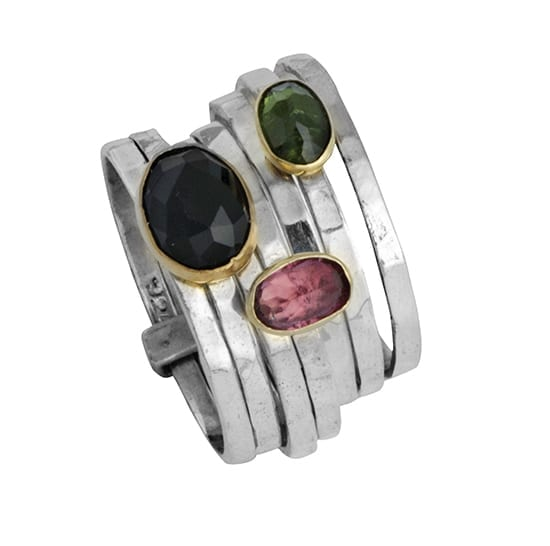 Linia Tourmalines Ring Stack