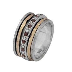 Stunning Spinning Garnet Ring