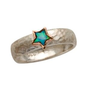 Star Shape Opal Ring