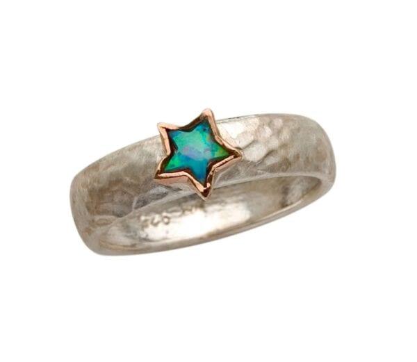 Star Shape Opal Ring