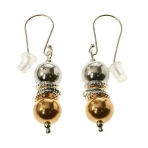 Beautiful sterling silver earrings combined with 14k rolled gold