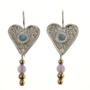 Heart-shaped Silver Gold Earrings