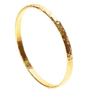 Golden Beautiful hammered bangle-0