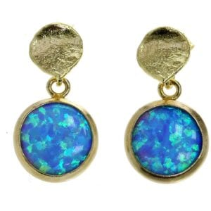 Gold Vermeil Opal earrings