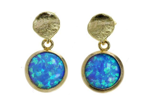 Gold Vermeil Opal earrings