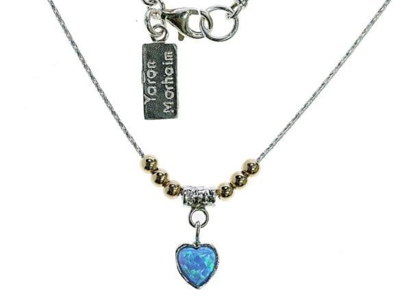 Opal Heart necklace-5209