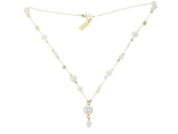 Freshwater Pearl Drop Necklace, White