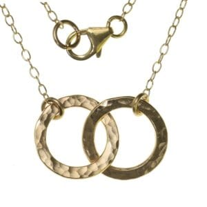 Fine Disc Layered Necklace, Gold