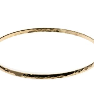 Slim Gold Hammered Bangle