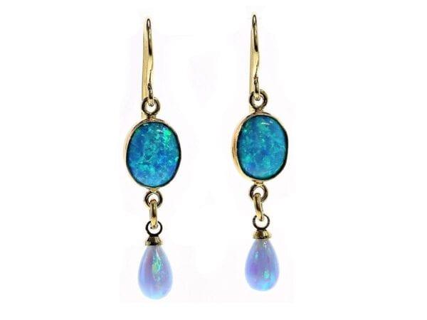 Beautiful Opalite drop earrings-5299