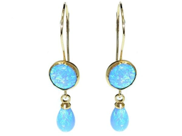 Beautiful opal drop earrings-0