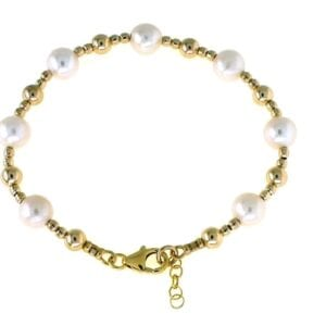 Freshwater Cultured Pearl Gold Bracelet