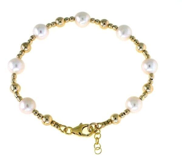 Freshwater Cultured Pearl Gold Bracelet