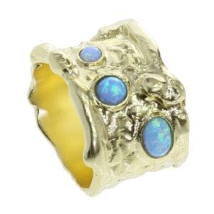 Quirky Ring With Opals