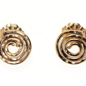 Sprial Hammered Gold studs