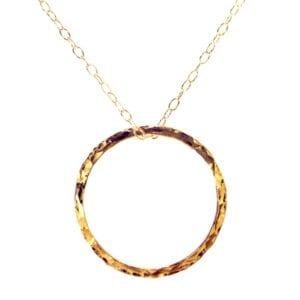Gold Circle Pendant necklace