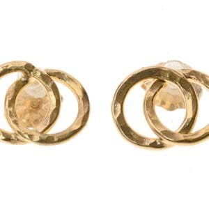 Double Circle Gold Studs