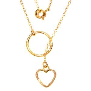 Entwined Heart Loop Necklace