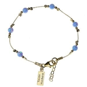Gold Bracelet With Round Opals
