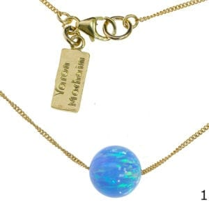Opal Sphere Gold Necklace