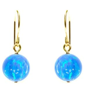 Classic Gold Opal Earrings
