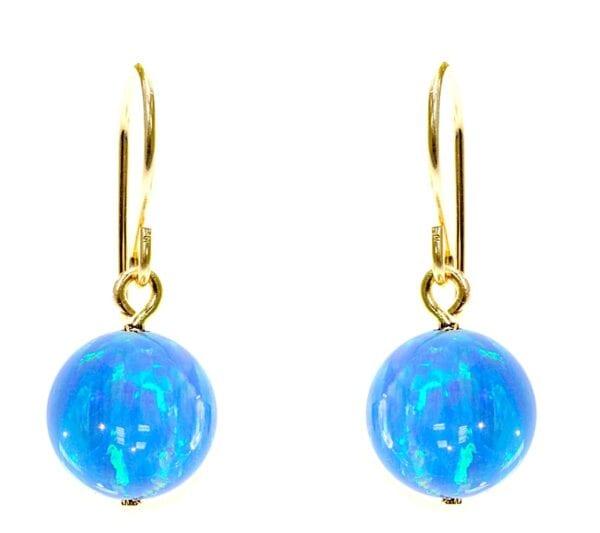 Classic Gold Opal Earrings