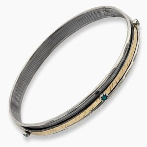 Gorgeous Silver Gold bangle