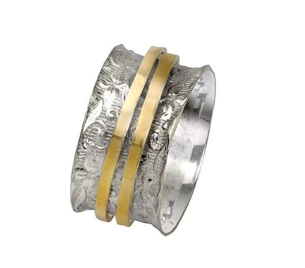 Gold Silver Fligree Ring