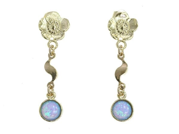 Opal Wavy Drop Earrings