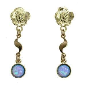 Opal Wavy Drop Earrings