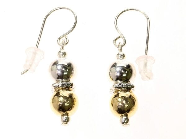 Exquisite Silver Gold Earrings