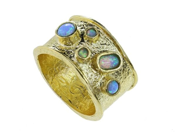 Textured Opal Ring