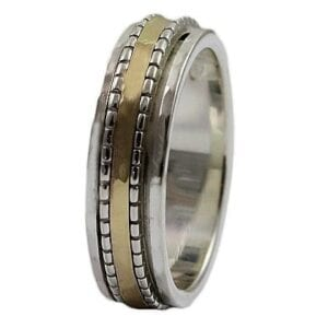 Classic Spinning Silver Gold Ring