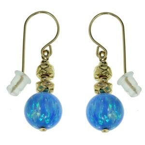 Gold Nuggets Opal Earrings