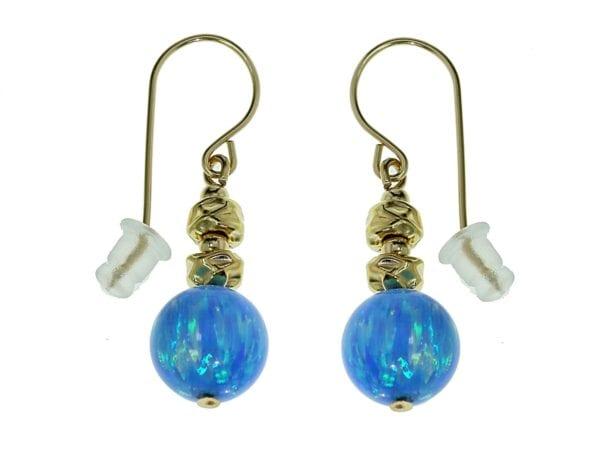 Gold Nuggets Opal Earrings