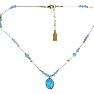 Dazzling Opal Gold Necklace